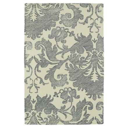 Kaleen Montage Wool Accent Rug - 2x3' in Grey - Closeouts