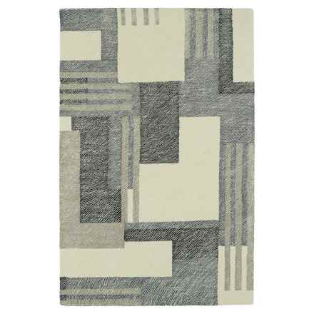 "Kaleen Montage Wool Area Rug - 5'x7'9"" in Camel - Closeouts"