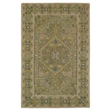 "Kaleen Montage Wool Area Rug - 5'x7'9"" in Green - Closeouts"