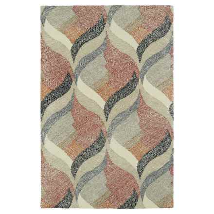 "Kaleen Montage Wool Area Rug - 5'x7'9"" in Ivory - Closeouts"