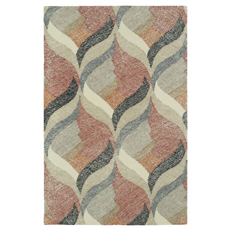 """Kaleen Montage Wool Area Rug - 5'x7'9"""" in Ivory"""