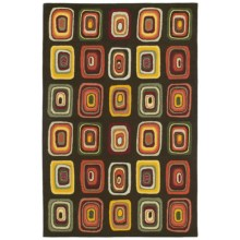 """Kaleen Moods Collection Kara Wool Area Rug - 5'x7'9"""" in Charcoal - Closeouts"""