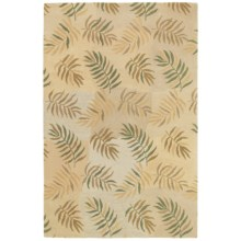 """Kaleen Moods Collection La Playa Wool Area Rug - 8x9'-7"""" in Ivory - Closeouts"""