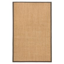 "Kaleen Natural Fiber Sisal Indoor-Outdoor Area Rug - 27x45"" in Brown - Closeouts"