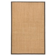 "Kaleen Natural Fiber Sisal Indoor-Outdoor Area Rug - 42x66"" in Brown - Closeouts"