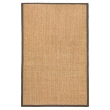 "Kaleen Natural Fiber Sisal Indoor/Outdoor Area Rug - 21x34"" in Brown - Closeouts"
