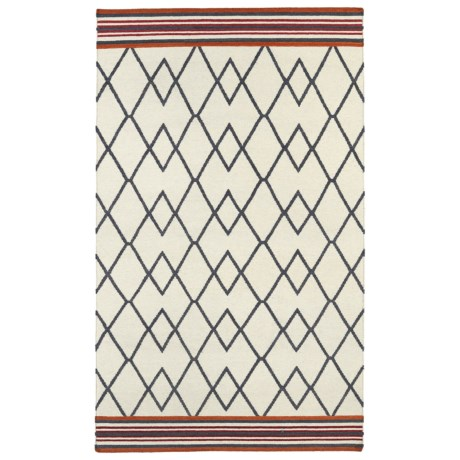 "Kaleen Nomad Accent Rug - 3'6""x5'6"" in Black Diamonds"