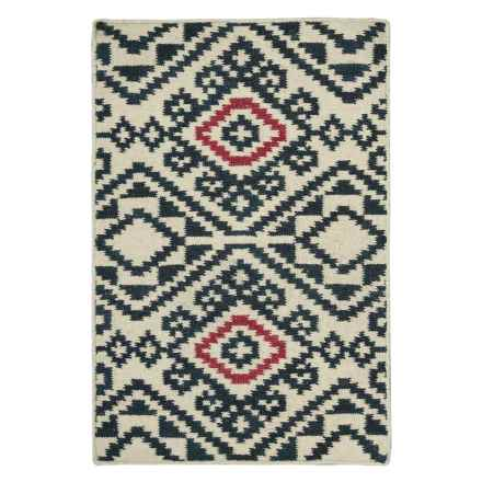 Kaleen Nomad Wool Accent Rug - 2x3' in Black Mosaic - Closeouts