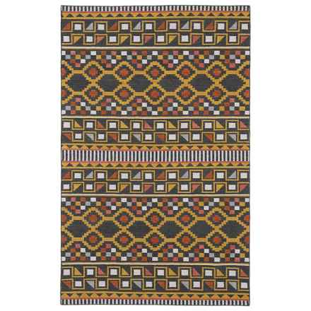 Kaleen Nomad Wool Accent Rug - 2x3' in Charcoal - Closeouts