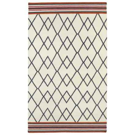 Kaleen Nomad Wool Area Rug - 8x10' in Black Diamonds - Closeouts
