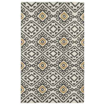 Kaleen Nomad Wool Area Rug - 8x10' in Black Mosaic - Closeouts
