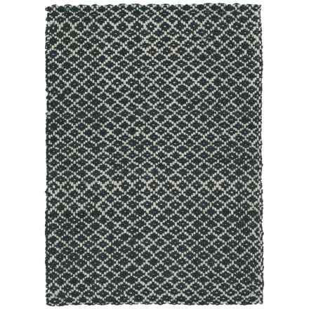 Kaleen Paloma Jute Accent Rug - 3x5' in Charcoal - Closeouts