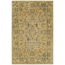 Kaleen Presidential Picks Collection Area Rug - Hand-Tufted Wool 8x10' in Wormsloe Cream - Closeouts