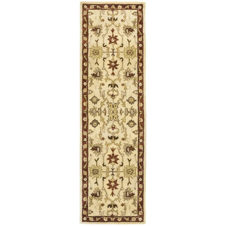 "Kaleen Presidential Picks Dyches Floor Runner - 2'3""x8', Woolmark® Virgin Wool in Ivory"
