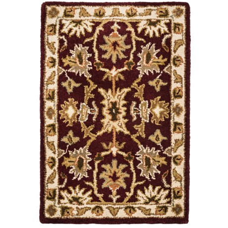 Kaleen Presidential Picks Wool Accent Rug - 2x3' in Dyches Burgundy
