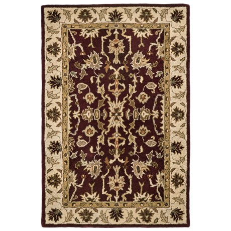 "Kaleen Presidential Picks Wool Area Rug - 5'3""x8' in Dyches Burgundy"