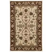 "Kaleen Presidential Picks Wool Area Rug - 5'3""x8' in Dyches Ivory - Closeouts"