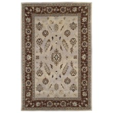 """Kaleen Presidential Picks Wool Area Rug - 5'3""""x8' in Gilreath Ivory - Closeouts"""