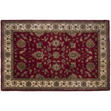 "Kaleen Prince of Wales Area Rug - Handcrafted Virgin Wool, 3'6""x5'6"" in Red - Closeouts"