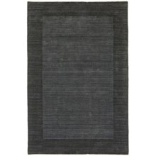 """Kaleen Regency Collection Area Rug - Hand-Tufted Wool, 5'x7'9"""" in Denim - Closeouts"""