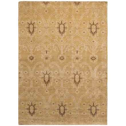 Kaleen Restoration Collection Accent Rug - 4x6', Hand-Knotted Wool in Gold - Closeouts