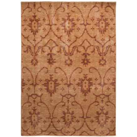 Kaleen Restoration Collection Accent Rug - 4x6', Hand-Knotted Wool in Paprika - Closeouts