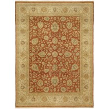 Kaleen Royal Signature Collection Area Rug - 6x9', Hand-Knotted Wool in Demonte Rust - Closeouts