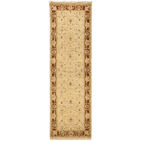 Kaleen Royal Signature Floor Runner - Hand-Tufted Wool, 3x10' in Stewart Gold