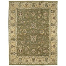 Kaleen Royal Signature Herbal Washed Wool Area Rug - Heirloom Quality, 4x6' in Ganesh Olive - Closeouts