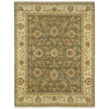 Kaleen Royal Signature Herbal Washed Wool Area Rug - Heirloom Quality, 4x6' in Windsor Olive - Closeouts