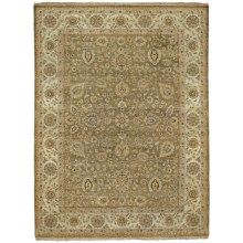Kaleen Royal Signature Herbal Washed Wool Area Rug - Heirloom Quality, 6x9' in Delmonte Beige - Closeouts