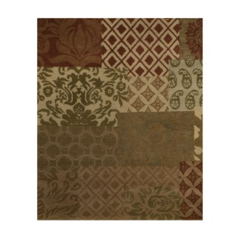 "Kaleen Samode Hand-Tufted Wool Multi Rug - 7'6""x9' in Multi"