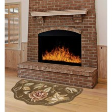 "Kaleen Scalloped Hearth Rug - Wool, 21x42"" in Chocolate - Overstock"