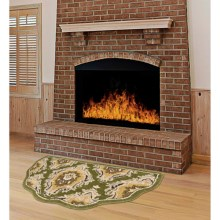 "Kaleen Scalloped Hearth Rug - Wool, 21x42"" in Green - Overstock"