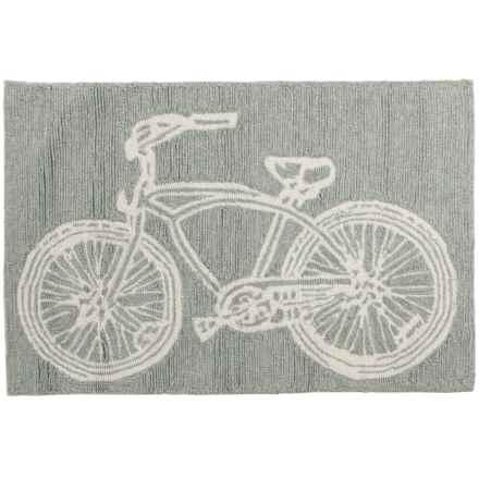 Kaleen Sea Isle Collection Indoor-Outdoor Accent Rug - 2x3' in Grey Bike - Overstock