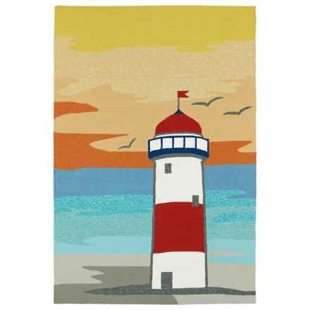 Kaleen Sea Isle Collection Indoor-Outdoor Accent Rug - 2x3' in Lighthouse - Overstock