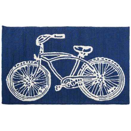 Kaleen Sea Isle Collection Indoor-Outdoor Accent Rug - 2x3' in Navy Bike - Overstock