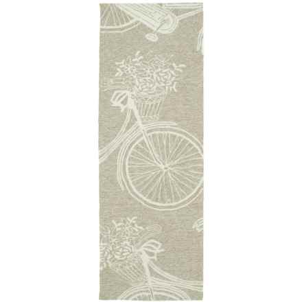 Kaleen Sea Isle Collection Indoor-Outdoor Floor Runner - 2x6' in Light Brown Bike - Overstock