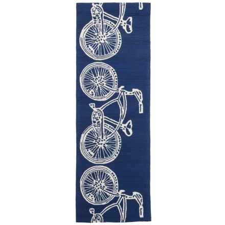 Kaleen Sea Isle Collection Indoor-Outdoor Runner Rug - 2x6' in Navy Bike - Overstock