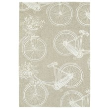 Kaleen Sea Isle Collection Indoor/Outdoor Rug - 3x5' in Light Brown Bike - Closeouts