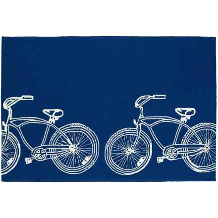 Kaleen Sea Isle Collection Indoor/Outdoor Rug - 3x5' in Navy Bike - Overstock