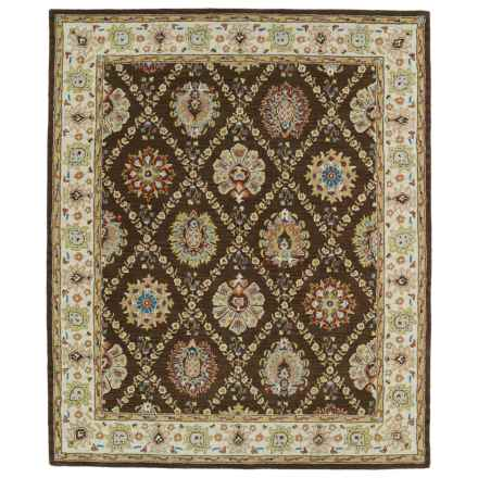 "Kaleen Taj Collection Area Rug - 5x7'9"", Hand-Tufted Wool in Chocolate - Closeouts"