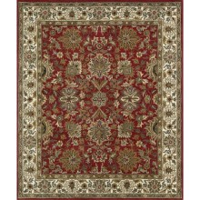 """Kaleen Taj Collection Area Rug - 5x7'9"""", Hand-Tufted Wool in Red - Closeouts"""