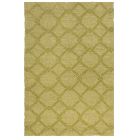 Kaleen Taos Collection Indoor/Outdoor Area Rug - 9x12' in Wasabi Lattice