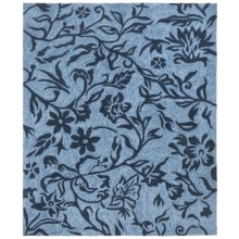 "Kaleen Taos Collection Indoor/Outdoor Rug - 7'6""x9' in Blue Vines - Closeouts"
