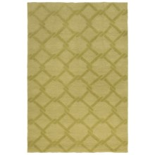 Kaleen Taos Collection Indoor/Outdoor Rug - 9x12' in Wasabi Lattice - Closeouts