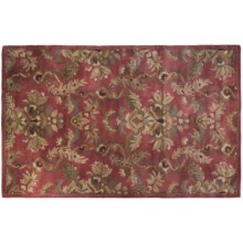 "Kaleen Zona Rosa Area Rug - Handcrafted Virgin Wool, 3'6""x5'6"" in Rose - Closeouts"
