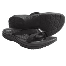 Kalso Earth Cabo San Lucas 2 Sandals - Flip-Flops, Vegan (For Women) in Black - Closeouts