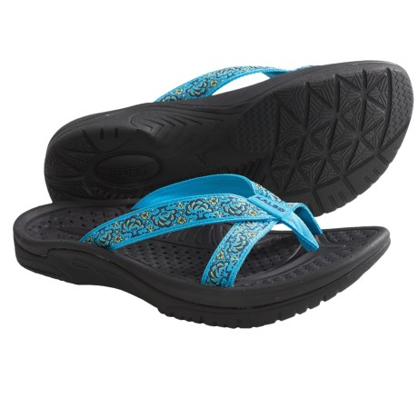 Kalso Earth Cabo San Lucas 2 Sandals - Flip-Flops, Vegan (For Women) in Blue Multi