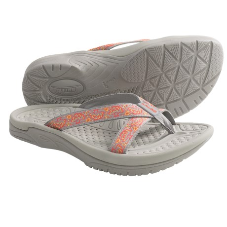 Kalso Earth Cabo San Lucas 2 Sandals - Flip-Flops, Vegan (For Women) in Grey Multi